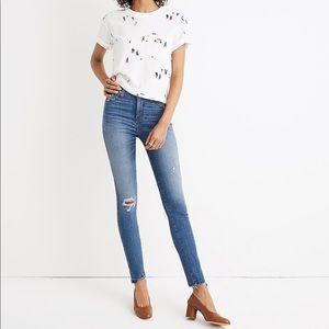 "10"" High-Rise Skinny Jeans Drop Step-Hem Edition"